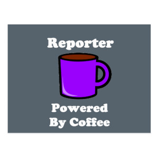 """""""Reporter"""" Powered by Coffee Postcard"""