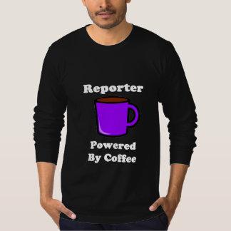 """Reporter"" Powered by Coffee Tee Shirt"