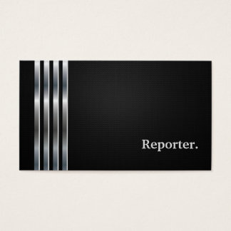 Reporter Professional Black Silver Business Card