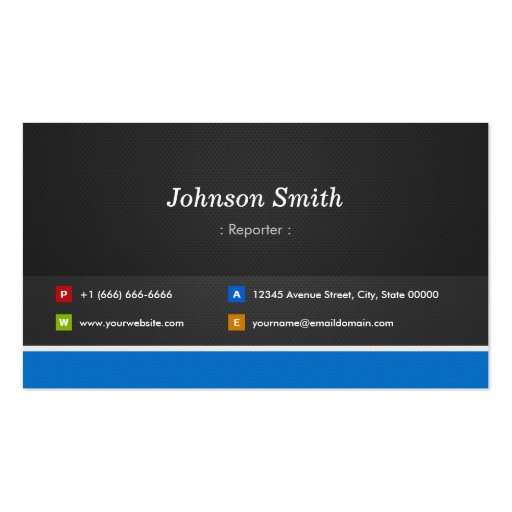 Reporter - Professional Customizable Business Card Template