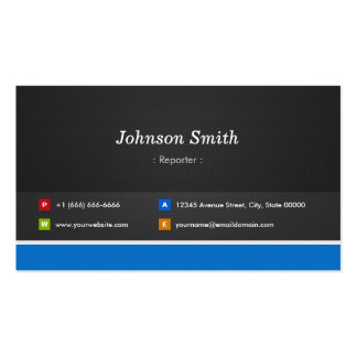 Reporter - Professional Customizable Double-Sided Standard Business Cards (Pack Of 100)