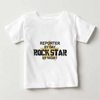 Reporter Rock Star by Night Baby T-Shirt