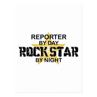 Reporter Rock Star by Night Postcard