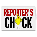 REPORTER'S CHICK GREETING CARD