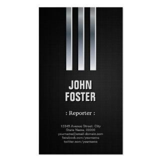 Reporter - Steel Metal Look Business Card Template