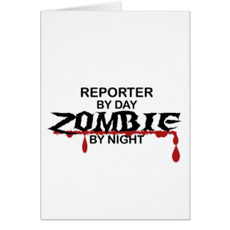 Reporter Zombie Card