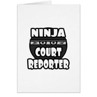 Reportero de corte de Ninja Tarjetas