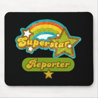 Reportero de la superestrella mousepads