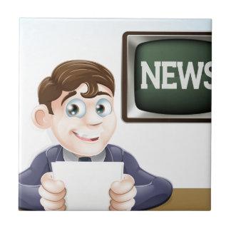 Reportero de las noticias teja