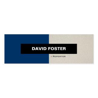 Reportero - elegante elegante simple tarjetas de visita mini