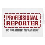 Reportero profesional tarjetas