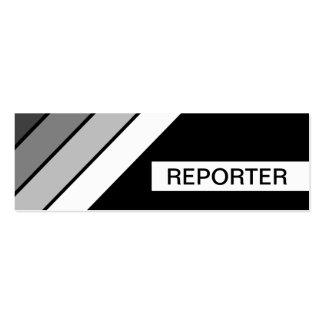 REPORTERO retro Tarjetas De Visita Mini