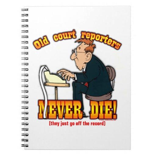Reporteros de corte cuadernos