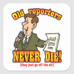 Reporters Square Sticker