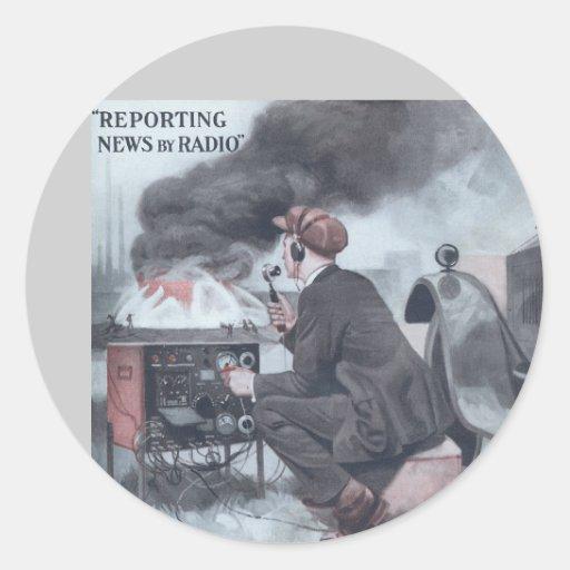 Reporting by Radio Classic Round Sticker