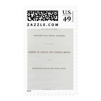 Reports of explorations and surveys postage stamp
