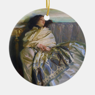 Repose by John Singer Sargent Ceramic Ornament