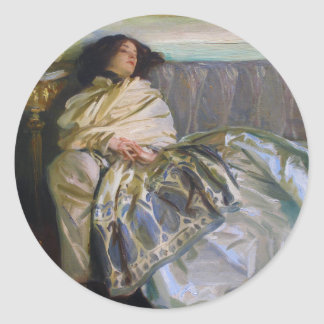 Repose by John Singer Sargent Classic Round Sticker