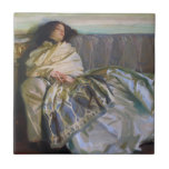 Repose by John Singer Sargent Small Square Tile