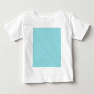 Reposedly Delightful Blue Color Scalloped Edge Baby T-Shirt