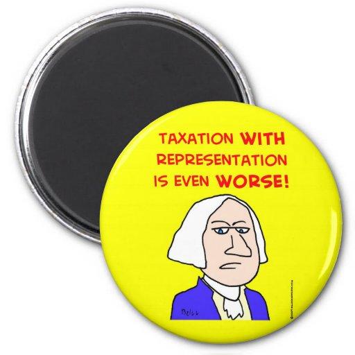 represenatation de los impuestos de George Washing Imán