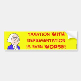 represenatation de los impuestos de George Washing Pegatina Para Auto