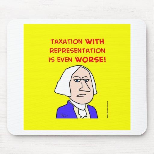 represenatation de los impuestos de George Washing Tapete De Ratones