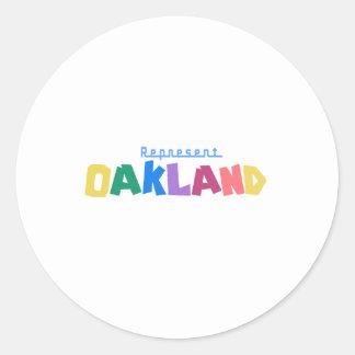 Represent Oakland Classic Round Sticker