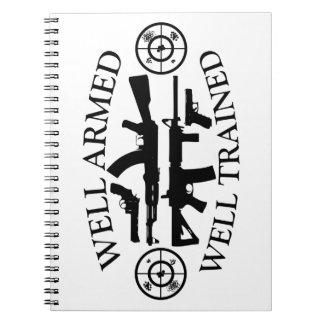 Represent Skill w/ WellArmed-WellTrained Spiral Note Book
