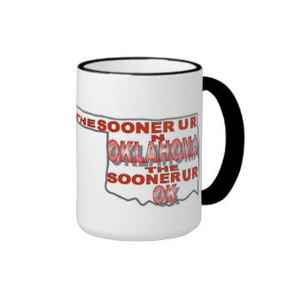 Represent the State of Oklahoma Mug Style