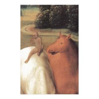 Representación alegórica de dos caballos papelería