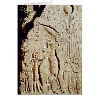 Representación de Amenophis IV, de Nefertiti y de  Tarjeta De Felicitación