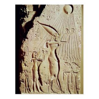 Representación de Amenophis IV, de Nefertiti y de Tarjetas Postales
