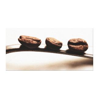 Representación de cocina - Tres Kaffeebohnen Impresión En Lona