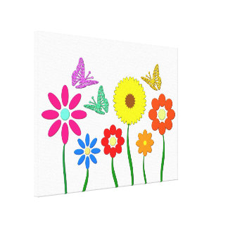 Representación de flor impresión en lona estirada