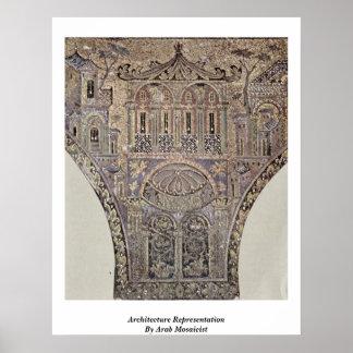 Representación de la arquitectura del fabricante d poster