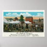 Representación de la batalla de Lexington Posters