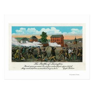 Representación de la batalla de Lexington Tarjetas Postales