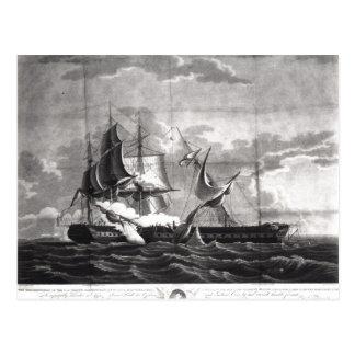 Representación de la fragata de los E.E.U.U., Tarjetas Postales