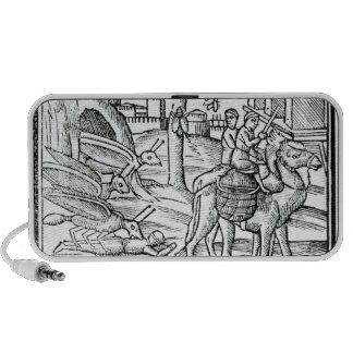 Representación de la plaga, 1572 altavoces de viajar