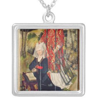 Representación de Laura de Jaucourt Collar Plateado