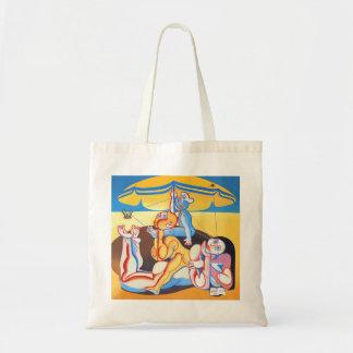 Representación de playa 1 bolsa tela barata