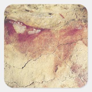 Representación de un animal, c.15000 A.C. Pegatina Cuadrada