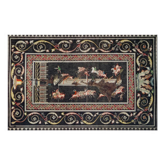 Representación de un mosaico impresiones