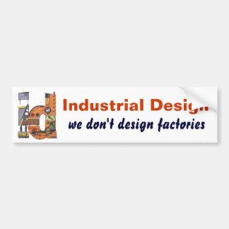 Representación del diseño industrial pegatina para auto