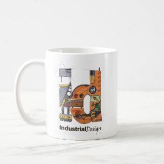 Representación del diseño industrial tazas de café