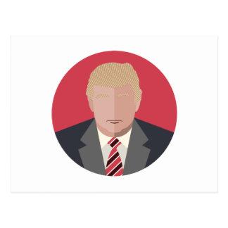 Representación del gráfico de Donald Trump Tarjeta Postal