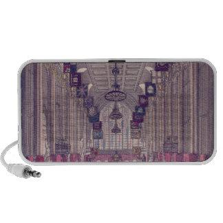 Representación del interior del consistorio laptop altavoz