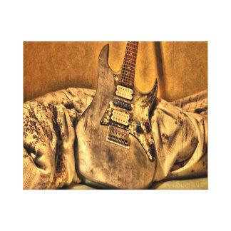 representación, leinwand, gitarre, musik impresión en lienzo estirada