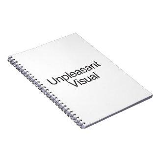 Representación visual desagradable libros de apuntes